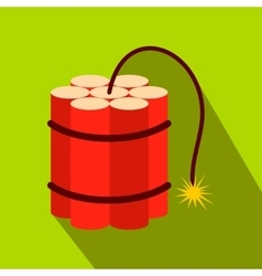 Red dynamite sticks flat icon vector