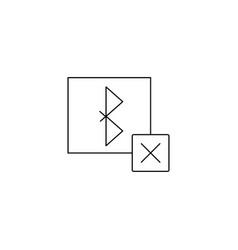 Remove bluetooth icon sign design vector