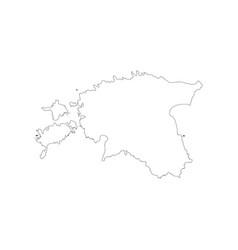 republic of estonia map vector image vector image
