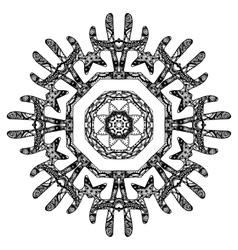 Round pattern design vector
