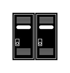 Silhouette locker room american football vector