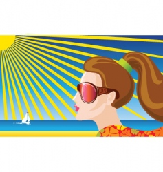 summer illustration vector image