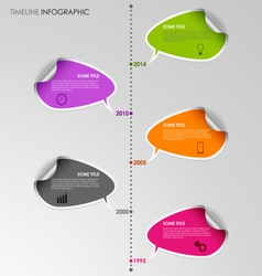Time line info graphic stickers template vector