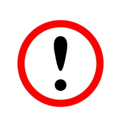 Attention sign icon vector