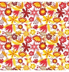 Excellent seamless pattern with with poppies and vector image