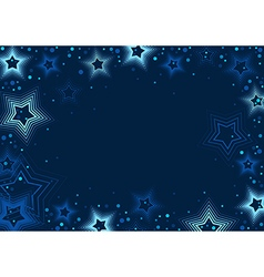 Blue stars background vector