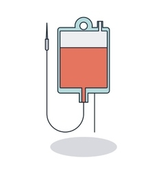 Isolated blood bag design vector