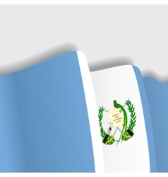 Guatemalan waving flag vector