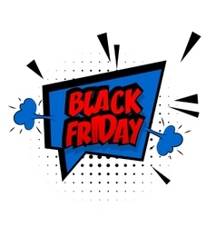 Comic red sound effects pop art black friday vector