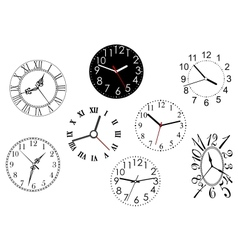 Set of clock dials vector image