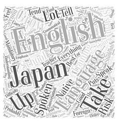 Spoken english course word cloud concept vector
