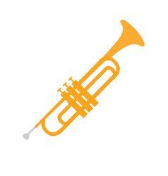 Cornet part of musical instruments set of vector