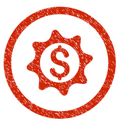 money seal rounded grainy icon vector image