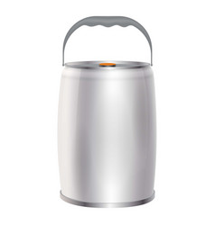 metal container can for beverage mockup vector image