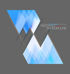 Abstract blue colors square shape scene vector