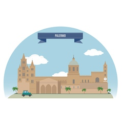 Palermo vector image
