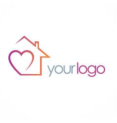 Love house logo vector