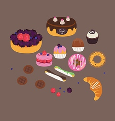 Sweets set vector image