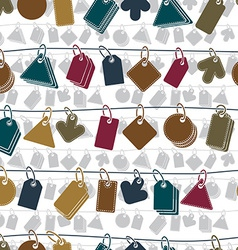 Sale tags on a rope seamless background icon set vector