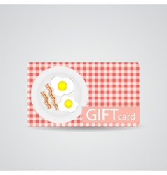 Abstract beautiful breakfast gift card design vector
