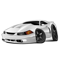 Modern american muscle car vector