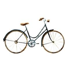 Watercolor bike vector