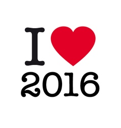 I love 2016 vector
