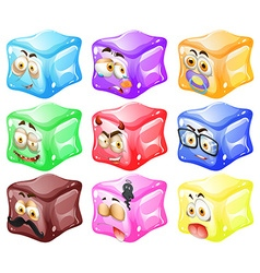 Cube with facial expressions vector