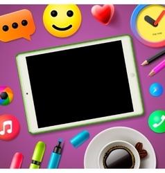 Blog concept  social media vector image