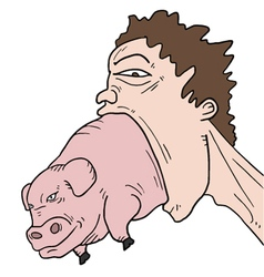 Crazy pig vector image