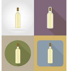objects for food flat icons 15 vector image