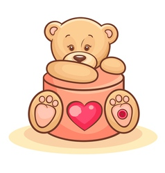 Teddy and valentine gift vector