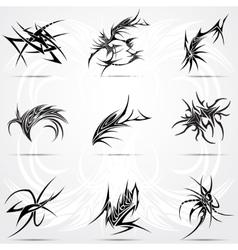 Abstract tattoo tribal set vector image