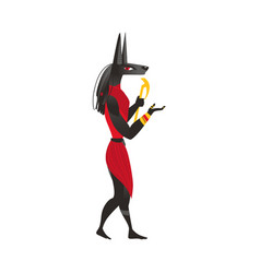 Anubis god of afterlife in ancient egypt religion vector