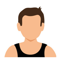 athletic man character icon vector image