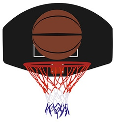 Basketball basket and ball vector image
