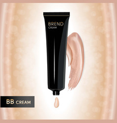 bb cream packing drop of cream vector image