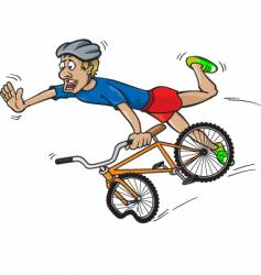 bike crash vector image vector image