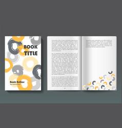 Book design template vector