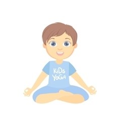 Boy Sitting In Lotus Pose vector image vector image