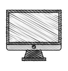Color crayon stripe image cartoon square lcd vector