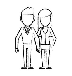 Couple people together relation sketch vector