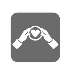 Customer service icon with like sign vector