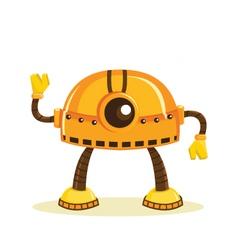 Cute cartoon robots vector image
