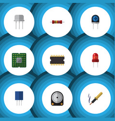 Flat icon electronics set of repair vector