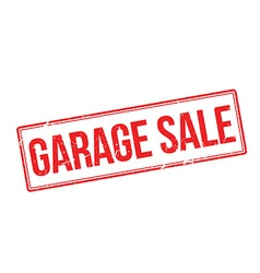 Garage Sale red rubber stamp on white vector image vector image