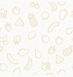 linear seamless pattern fruits vector image