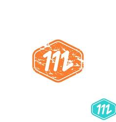 Logo m letter mockup emblem effect shabby paper vector