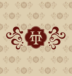 logo th letter business card vector image vector image