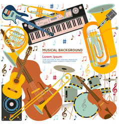Musical background made of different musical vector